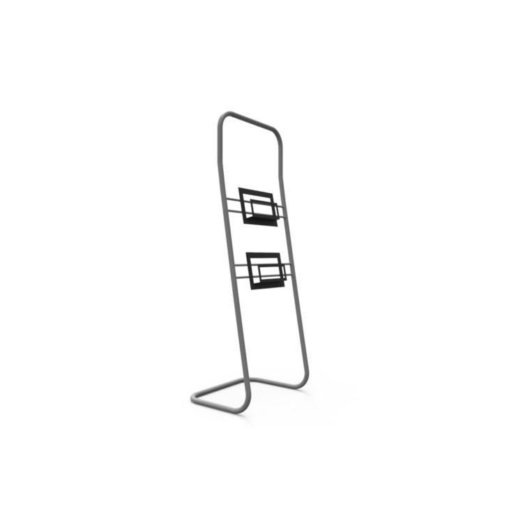 Tex Wave Totem Angular Literature Holder - Estrutura